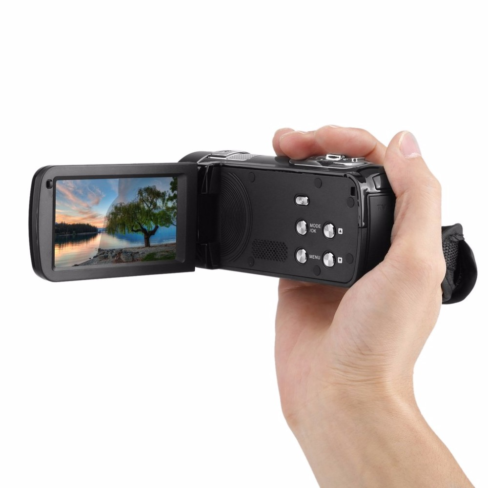 Portable Night Vision FHD 1920 x 1080 3.0 Inch LCD Touchscreen 18X 24MP Digital Video Camera Camcorder