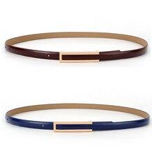 Fashion Women Ratchet Straps Leather Belt