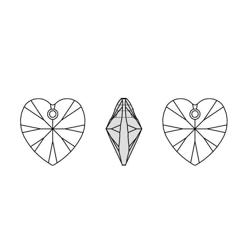 (1 pieza) 100% elemento Original de cristal de Swarovski, colgante de corazón de XILION 6228, cuentas de HECHO EN AUSTRIA para hacer joyas DIY