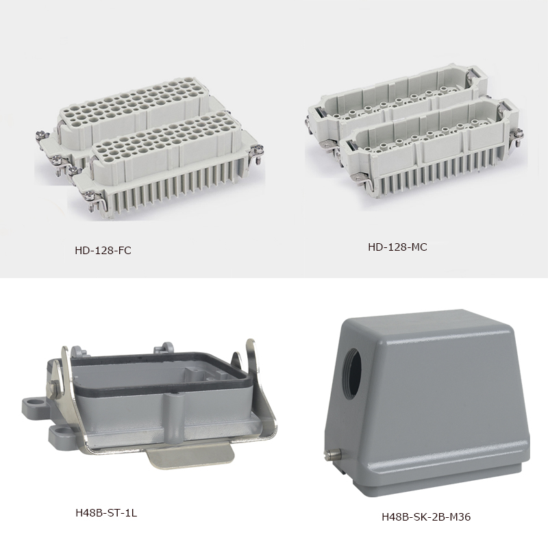 HD-128 whole set 128 PINS socket and plug heavy duty connector 250V 10A victorinox 11864415