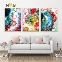 NOOG Abstract Art Canvas Poster Landscape Oil painting Color Bubble  Print Colorful Wall Picture Living Room Home Decor