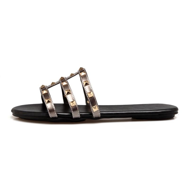 SARAIRIS Summer Plus Size 34-43 zapatillas con remaches punk Comfort - Zapatos de mujer - foto 2