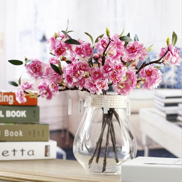 1Pcs High end Silk Cherry Blossoms Wedding Accessories Flores Flower ...