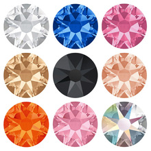Yanruo 2078 8 Big Small Hot Fix Crystal Rhinestones Glass Hotfix Strass Rhinestone Colors DIY Dresses Garment Decoration