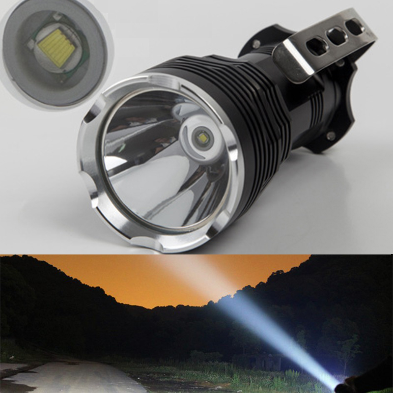 500M 2400 Lumens Long range Portable Searchlight LED Flashlight T6 LED Waterproof Rechargeable Fishing Camping LED light christmas snow vinyl studio backdrop photography photo background 7x5ft