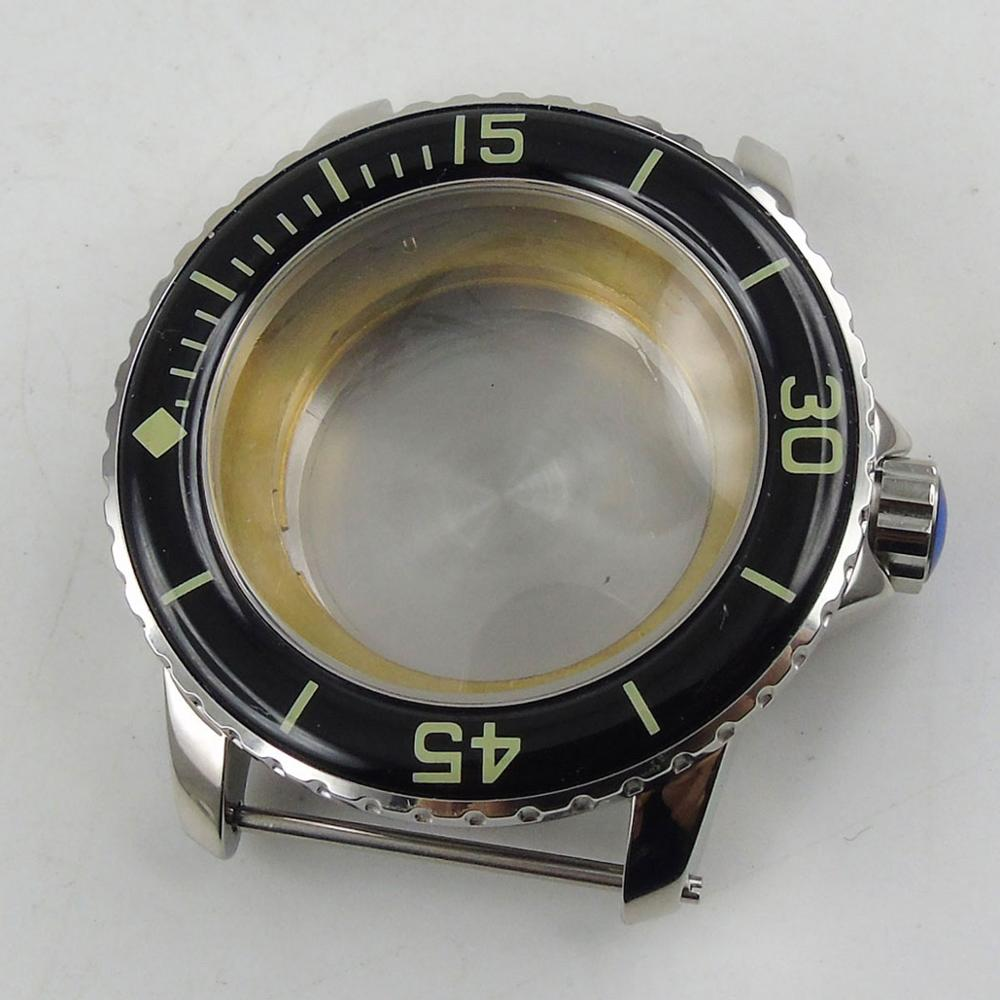 45mm Watch Case Fit for MIYOTA 8215 Automatic Movement Stainless Steel Watch Case45mm Watch Case Fit for MIYOTA 8215 Automatic Movement Stainless Steel Watch Case