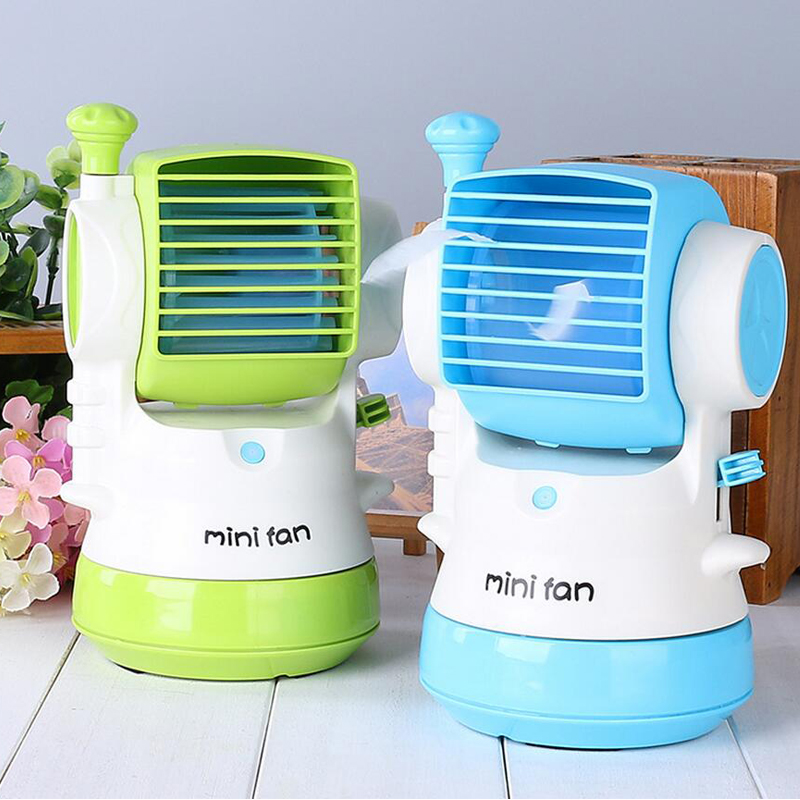2017 summer office portable handheld mini usb fan 3 leaves
