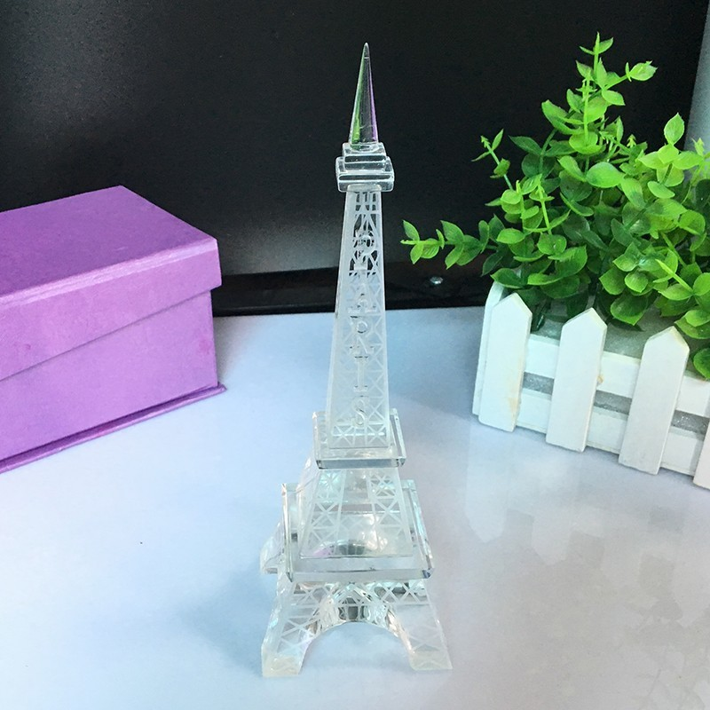 Popular New Home Decor Crystal Glass Eiffel Tower Model Art Crafts - Home Decor - Photo 2