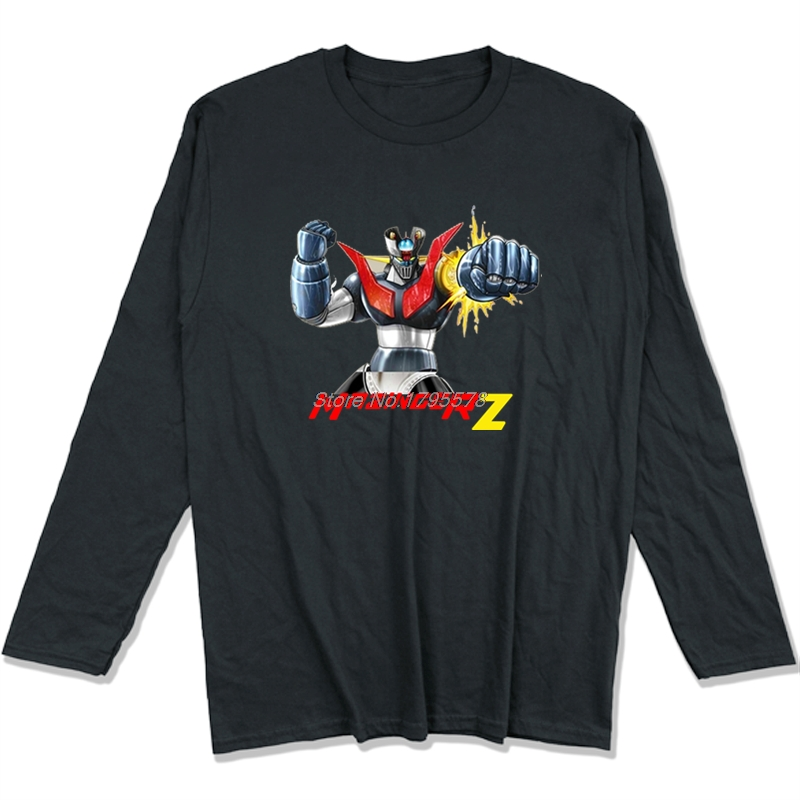 Mazinger Z T Shirt Brand Clothing Pop Harajuku Men Long Sleeve Cotton O-neck  Plus Size 46af4eb81178