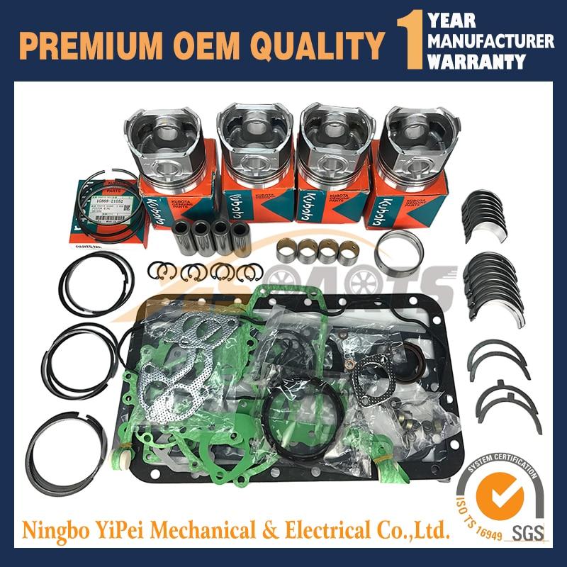 V2203 V2203E New Overhaul Rebuild for kubota V2203 Thomas Bobcat Scat Track STD