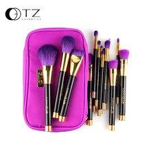 TZ 15pcs Makeup Brushes Soft Hair Makeup Brush Pro Cosmetic Blending Contour Eyebrow Foundation Kabuki Makeup Brush With Bag
