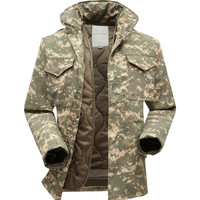 M65 military tactical jacket for men windbreaker jacket with inner big yards field jacket military fans winter jacket