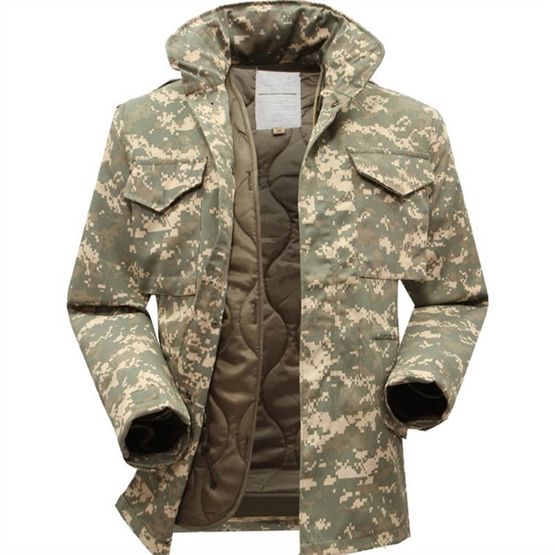 Фото M65 military tactical jacket for men windbreaker jacket with inner big yards field jacket military fans winter jacket. Купить в РФ