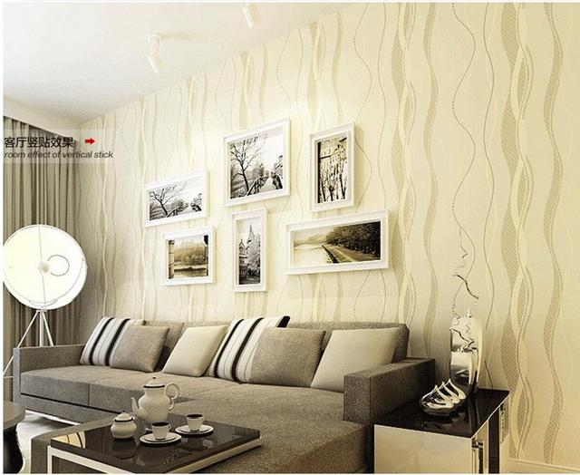 Simple Bedroom With Tv simple modern non woven wallpaper water ripple curve striped tv