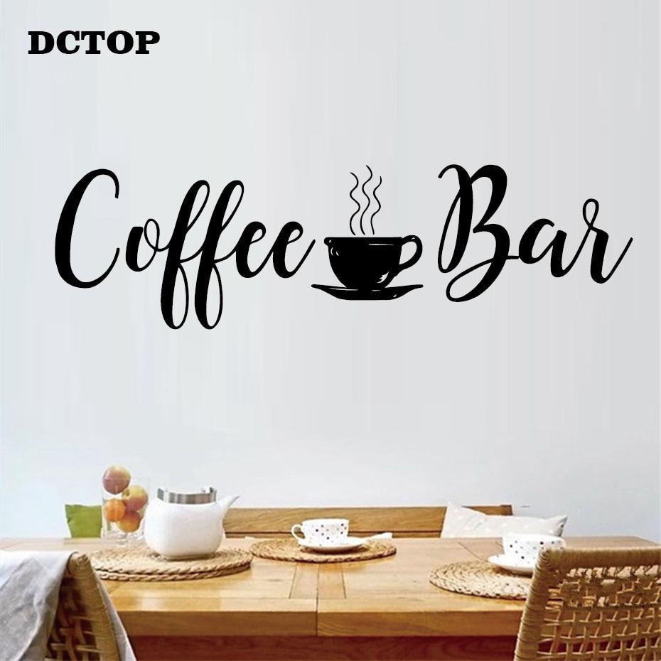Tasse à café Mur Autocollants Maison Bar Pour Cuisine Shop Art Décalque Restaurant
