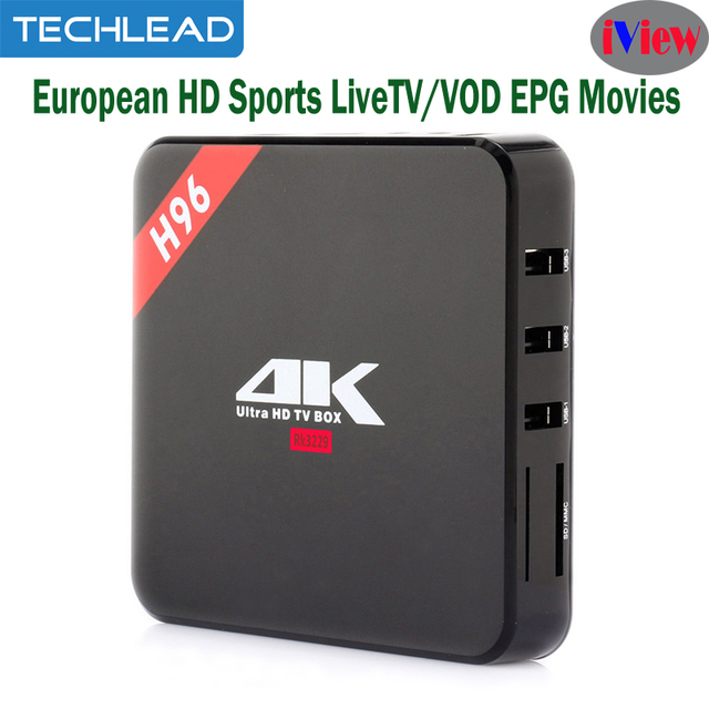 US $48 84 |H96 Android TV Box With Iview HD IPTV Subscription Arabic UK IT  Italian TV Channels list APK Russian Greek USA Turkey USA TV-in Set-top
