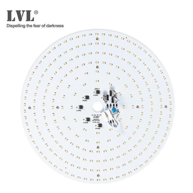 Moduł LED do lamp sufitowych 40W Panel LED sufit pokoju dziennego okrągła świetlówka Led 220V źródło lampa płaska