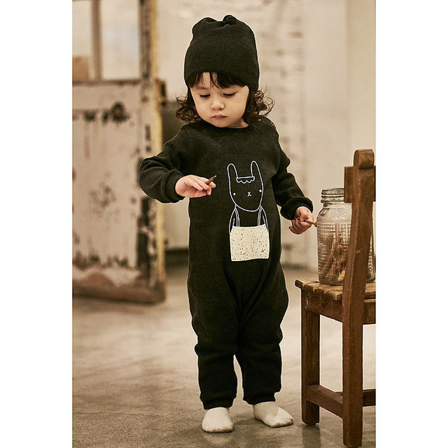 6-18M Baby Bodysuits Bobo choses 2016 Spring cotton white and black boy and girls bodysuits long sleeve  infant Baby clothes