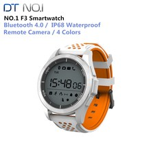 NO.1 F3 Bluetooth 4.0 IP68 Waterproof Sports Smart Watch Remote Camera Outdoor Mode Fitness Tracker Reminder Wearable Devices