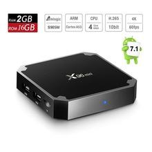 Android 7.1 Smart TV Box X96 Mini Amlogic S905W Quad Core 2GB RAM 16GB ROM Smart Mini PC 4K Streaming Media Player Set Top Box