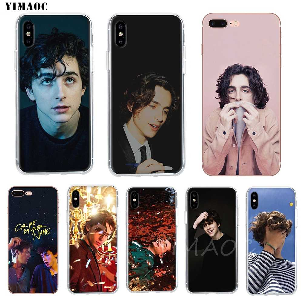 YIMAOC Timothee Chalamet Soft Case TPU Siliconen Cover voor iPhone 8 7 6 6S Plus 5 5S SE X XR XS 11 Pro Max Shell Gevallen
