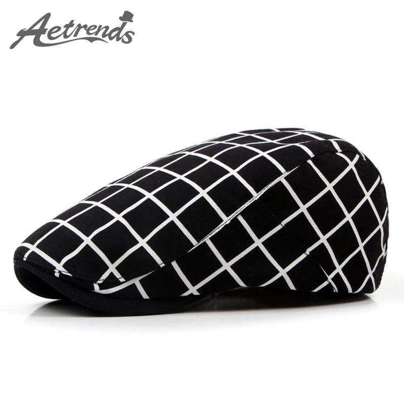 [AETRENDS] Classique Plaid Bérets Hommes Visière de Cap Angleterre Style Béret Chapeaux pour Hommes Z-3962