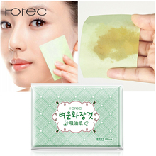 ROREC 100sheets/pack Green Tea Facial Oil Blotting Sheets Paper Cleansing Face Control Absorbent Beauty makeup tools