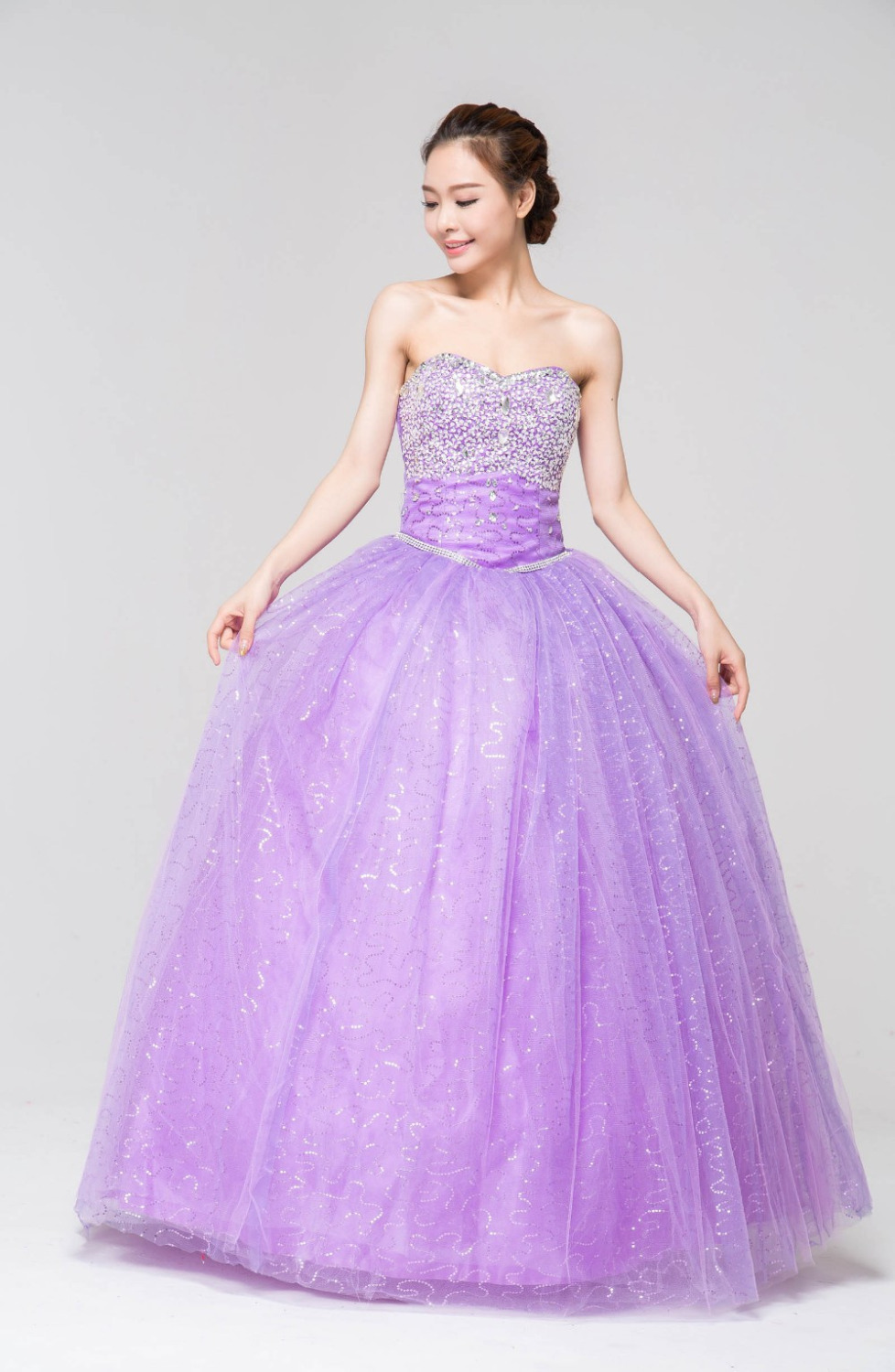 Lavender Crystal Wedding Dresses Pictures – Fashion dresses