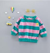 Fashion Striped Children's Sweater Pullovers 2019 Autumn New Smile Sweatshirts for Kids 1-4 Years Old Baby Clothes SY-F183015 sweet years sy 6130l 24