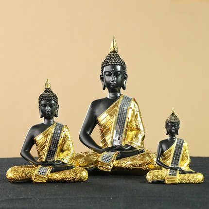 Thaïlande bouddhiste statues décoration maison Feng Shui ameublement décoratif résine artisanat vintage bouddha figurines statue