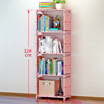 5 Livello Semplice Scaffale In Acciaio Inox Facile In Movimento Assemblato Scaffale Libreria Creativa Moderna Piccola Decorazione Della Casa Per I Bambini