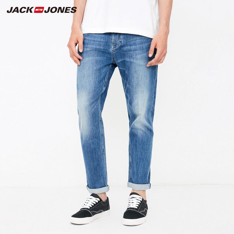 JackJones Men's Autumn Stretch Tapered-leg Cropped   Jeans   Fashion Pants Menswear218332542