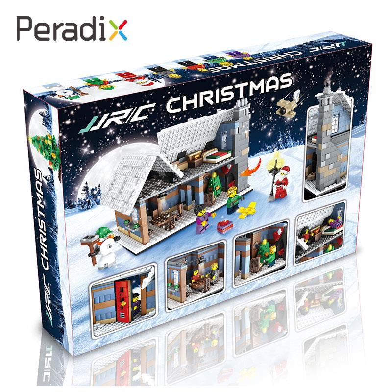 цена Building Blocks Christmas Construction Toy Christmas Village Building Intelligent Interactive Ability Interactive Interests ABS