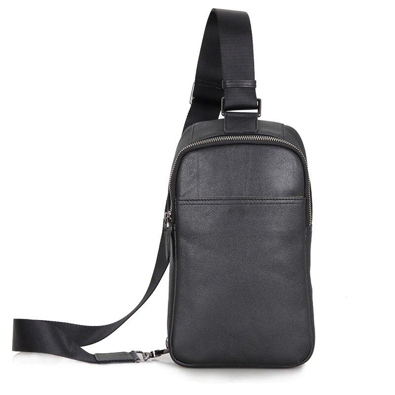 ФОТО JMD Vintage Leather High Qualty Chest Bag Fashion Office Black Cross Body Back pack Shoulder Messenger Bags Handbag 4001A