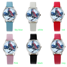 New Cartoon Children Watch Spider-Man Fashion boy Student Cute Leather Sports Analog Wrist Watches
