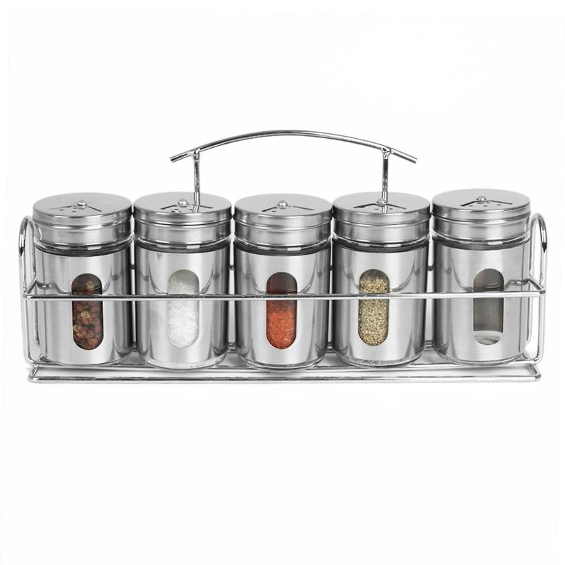 HIFUAR Jar Bottle Spice-Jar Pepper Salt Shaker Sprays Glass Condiment Kitchen Seasoning