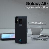 2019 Ultra Slim Schnelle Ladegerät Batterie Abdeckung für Samsung Galaxy A8s Lade Fall 7000mAh Tragbare Power Bank Pack Batterie fall