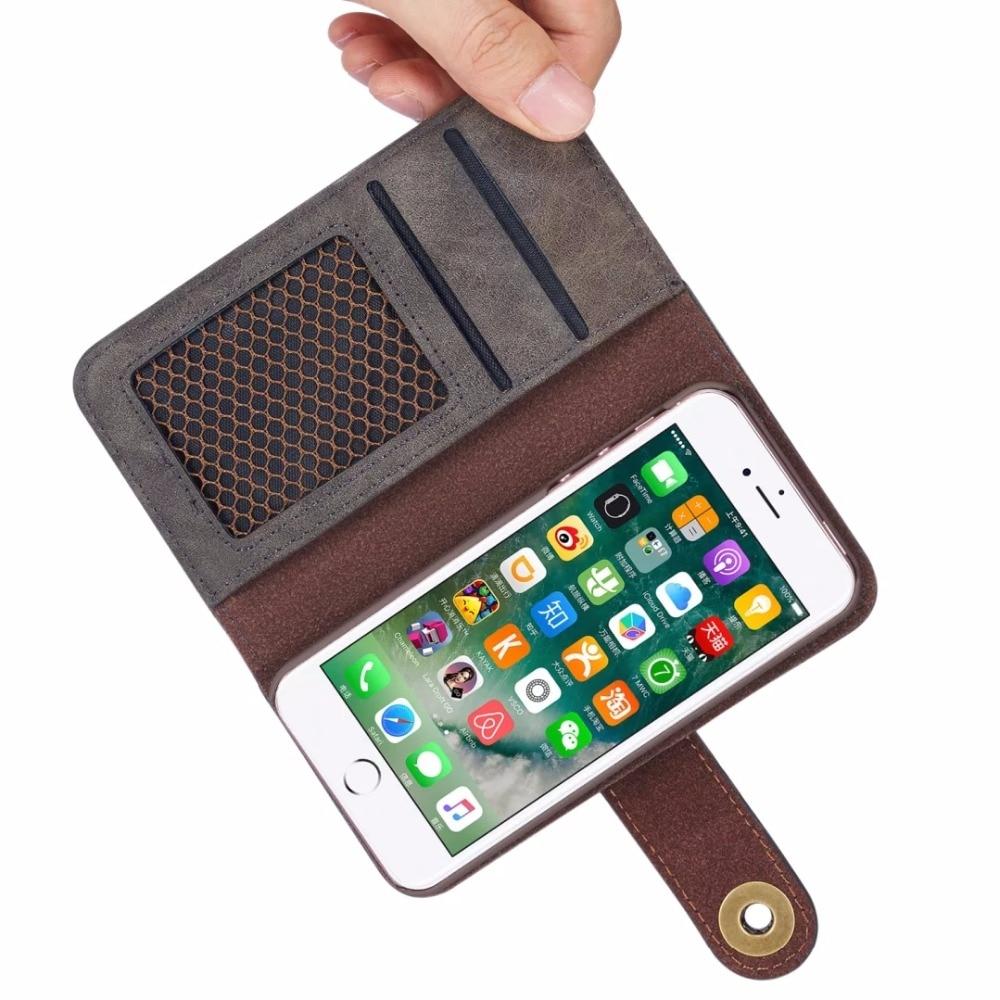 NFH klassiskt märke av läderfodral för iPhone 6 6S Plus 7 7 Plus - Reservdelar och tillbehör för mobiltelefoner - Foto 4