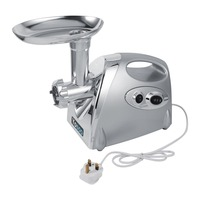 800W Home Electric Meat Grinder Sausage Stuffer Stainless Steel Mincer Maker W 3 Blades Silver