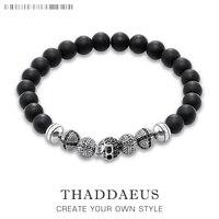 Skull Cross Bead Bracelet Thomas Style Rebel Fashion Good Jewerly For Ts Men And Women 2017