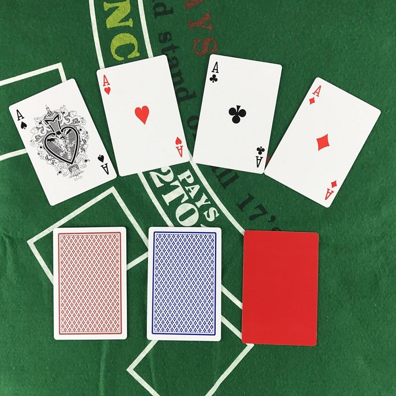 2 rinkiniai / partija Baccarat Texas Hold'em plastikinių kortelių - Pramogos - Nuotrauka 6