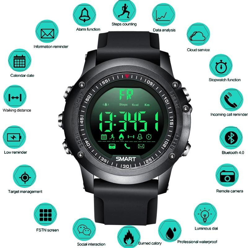 BANGWEI Smart Degli Uomini Della Vigilanza di Bluetooth Pedometro Cronometro Digitale Impermeabile LED Elettronica Orologi di Sport Degli Uomini relógios Smartwatch