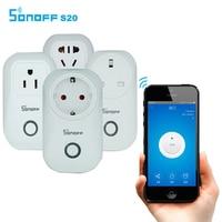Sonoff S20 Wifi Wireless Remote Control Socket Smart Home Power Socket EU US UK AU Standard