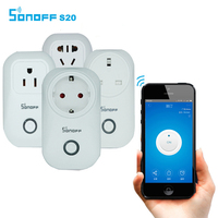 Sonoff S20 Wifi Wireless Remote Control Socket Smart Home Power Socket EU US UK AU Standard