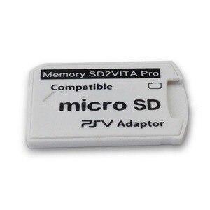 Image 5 - رائجة البيع نسخة 6.0 SD2VITA ل PS Vita الذاكرة TF لعبة ببطاقات ورقية بطاقة PSV 1000/2000 محول مايكرو قارئ البطاقات SD ps vita 1000