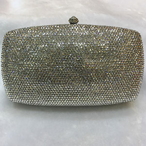 Women Fashion Silver Crystal Evening bags Wedding Cocktail party prom Handbag and Purse Metal banquet Minaudiere Clutch Bags top quality foundation brush angled makeup brush