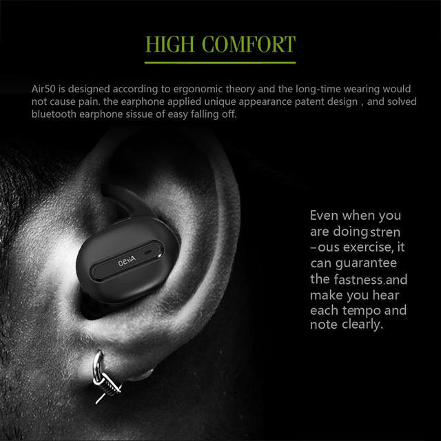 In-Ear Earphone Built-in Microphone with Chargeable Mini Box True Wireless Bluetooth earphones Stereo Binaural Sports Earbuds