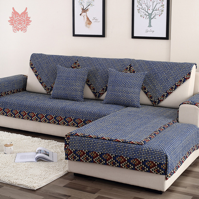 Us 12 1 45 Off American Style Geometric Jacquard Wrapping Sofa Cover Couch Furniture Covers Slipcovers Canape Capa De Sofa Protector Sp4452 In Sofa