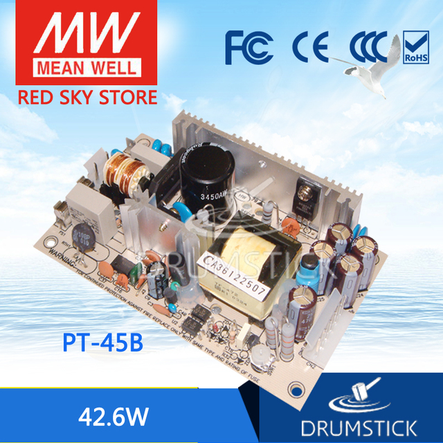 Hotsale MEAN WELL PT 45B meanwell PT 45 42,6 W Triple salida conmutación fuente de alimentación
