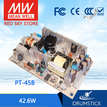Steady MEAN WELL PT 45B meanwell PT 45 42.6W Triple Output Switching Power Supply